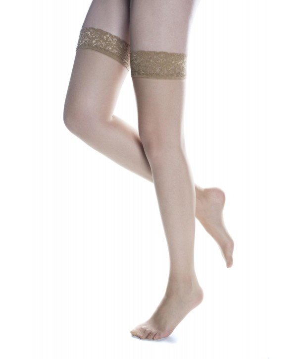 LACE STOCKINGS WITH INVISIBLE TOE